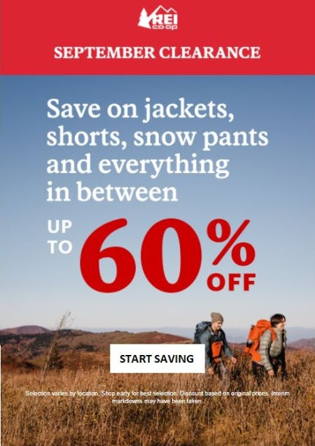 Up to 60% Off Jackets, Shorts, Snow Pants and Everything in Between from REI