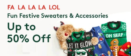Up to 50% Off Fun Festive Sweaters & Accessories from Nordstrom Rack