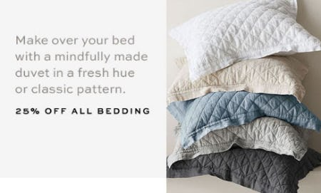 25% Off All Bedding from Pottery Barn