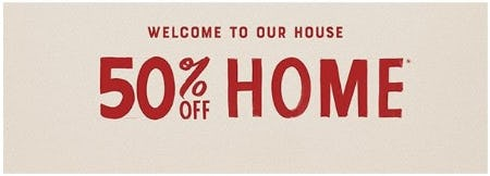 50% Off Home from Lucky Brand Jeans