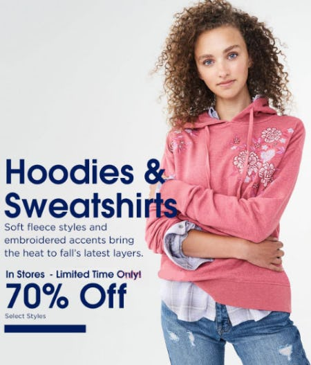 70% Off Hoodies & Sweatshirts from Aéropostale