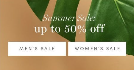 Summer Sale up to 50% Off from Cole Haan