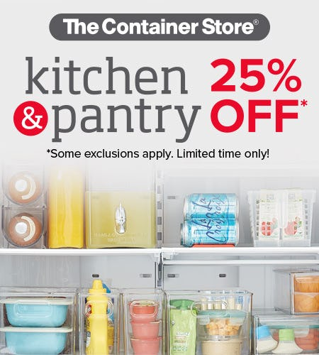 The Container Store Kitchen & Pantry Sale from The Container Store