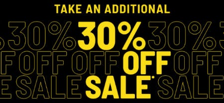 Take an Additional 30% Off Sale