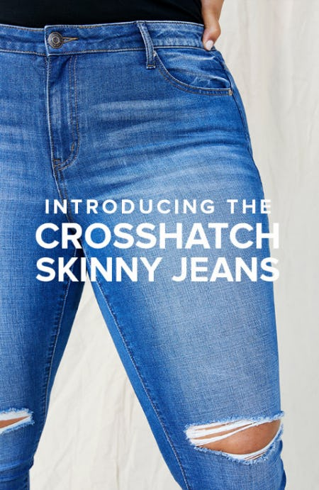 Introducing The Crosshatch Skinny Jeans