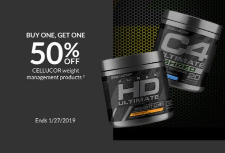 BOGO 50% Off Cellucor Weight Management Products