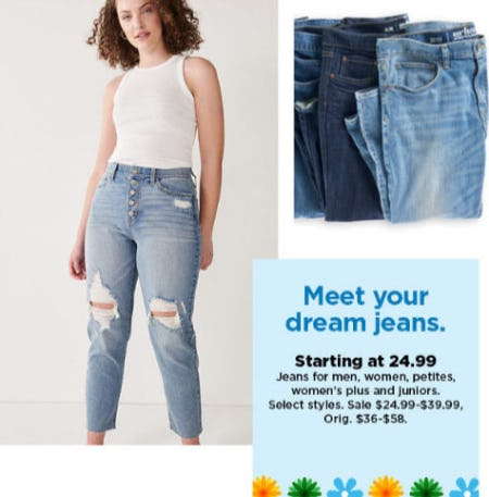 Jeans Starting at $24.99 from Kohl's