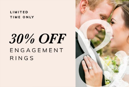 FALL ENGAGEMENT SALE 30% OFF Engagement Rings from Ashcroft & Oak Jewelers