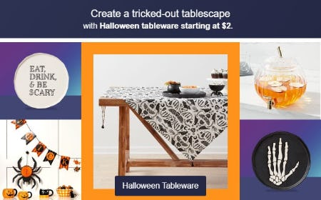 Halloween Tableware Starting at $2 from Target