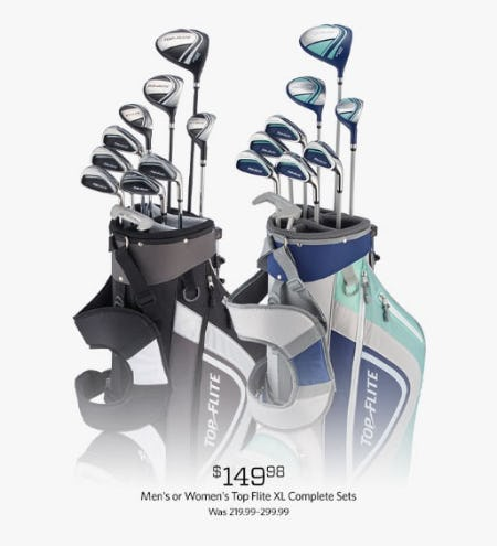 $149.98 Men's or Women's Top Flite XL Complete Sets from Golf Galaxy