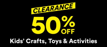 Clearance 50% Off from Michaels