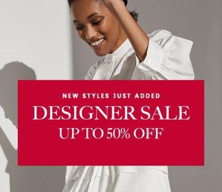 Designer Sale Up to 50% Off