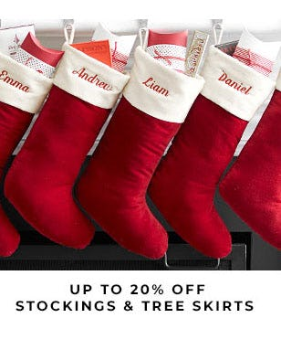 Up to 20% Off Stockings & Tree Skirts from Pottery Barn