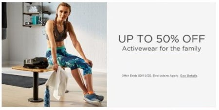 Up to 50% Off Activewear for the Family from Sears