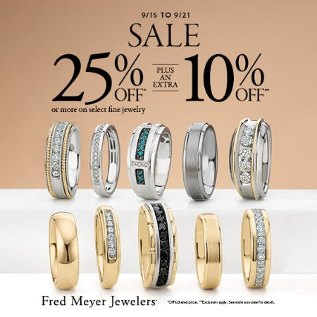September 7 Day Sale from Fred Meyer Jewelers