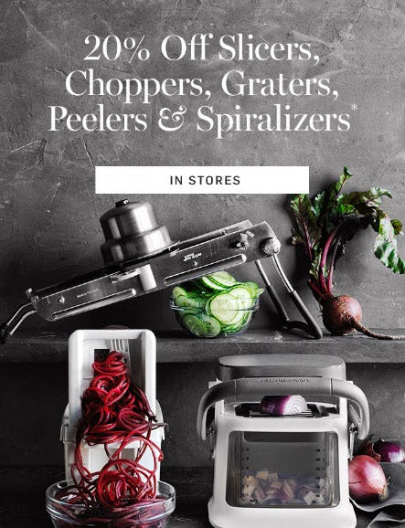 20% Off Slicers, Choppers & More from Williams-Sonoma