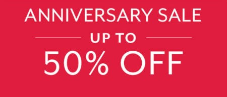 Up to 50% Off Anniversary Sale