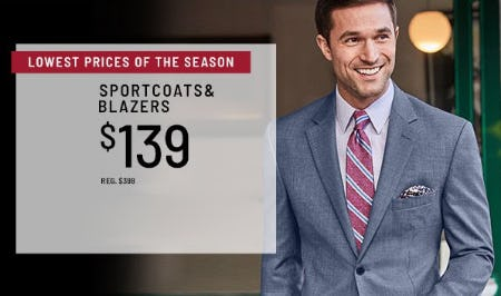 $139 Sportcoats & Blazers from Jos. A. Bank