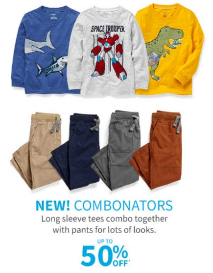 Up to 50% Off Combonators from Carter's