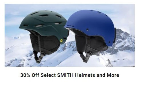 30% Off Select SMITH Helmets and More