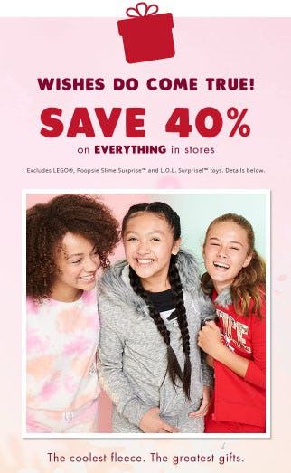 40% Off Everything from Justice