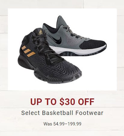 Up to $30 Off Select Basketball Footwear from Dick's Sporting Goods