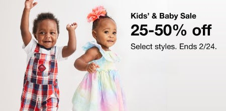 Kids' & Baby Sale: 25-50% Off