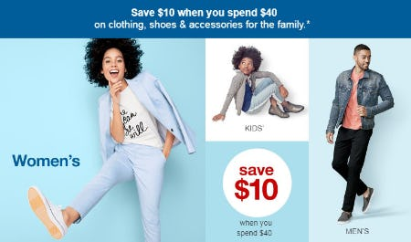 Save $10 When You Spend $40 from Target