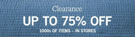 Up to 75% Off Clearance from Pottery Barn