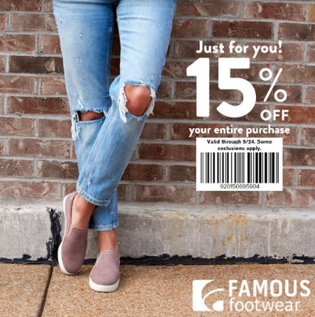 15% Off Your Entire Purchase from Payless ShoeSource