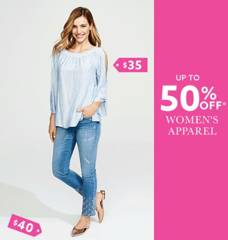 Up to 50% Off Women's Apparel from Lord & Taylor