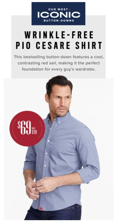 $69 Wrinkle-Free Pio Cesare Shirt from UNTUCKit