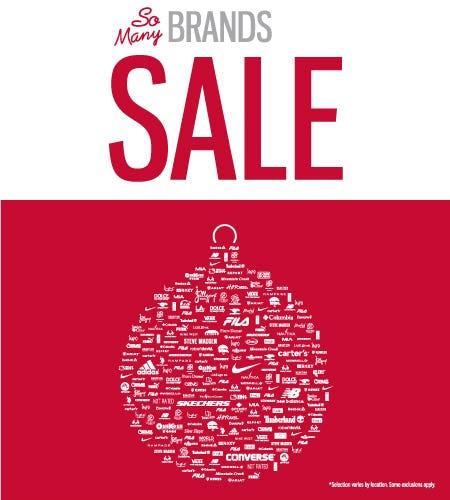 So Many Brands Sale!