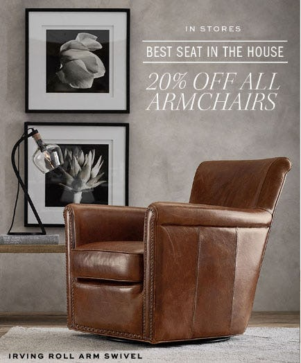 20% Off All Armchairs from Pottery Barn