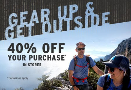 40% Off Your Purchase from Eddie Bauer