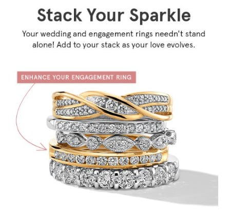 Stack Your Sparkle from Kay Jewelers