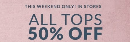All Tops 50% Off from Lane Bryant