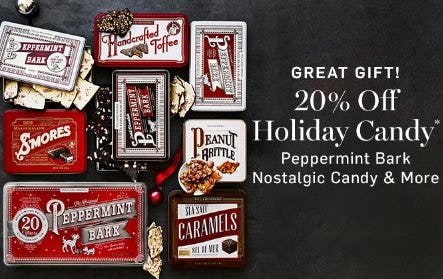 20% Off Holiday Candy from Williams-Sonoma