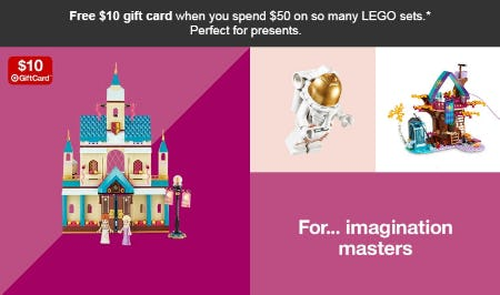 Free $10 Gift Card with $50 LEGO Purchase from Target