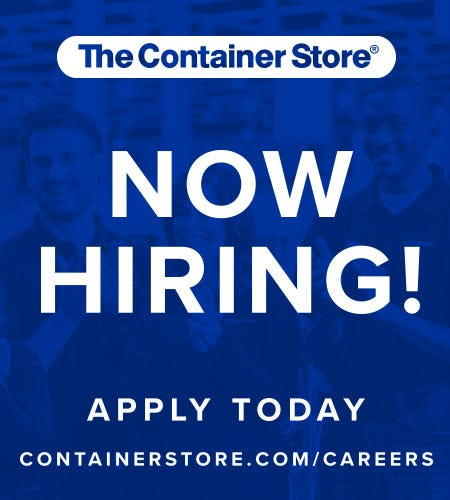 The Container Store is Hiring Now!