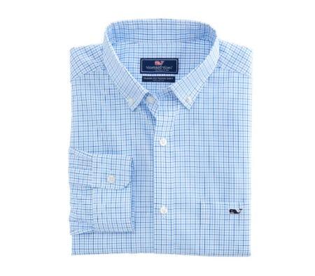 Twin Pond Tattersall Classic Tucker Shirt