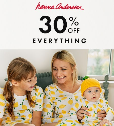 50% Off Accessories, 30% Off Everything Else from Hanna Andersson