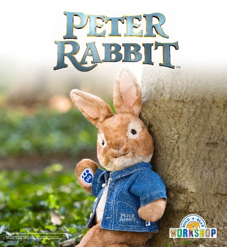 It's a Good Hare Day – Peter Rabbit Is Back at Build-A-Bear Workshop!®