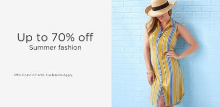 Up to 70% Off Summer Fashion from Sears