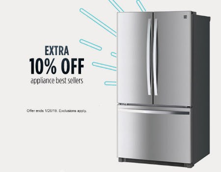 Extra 10% Off Appliance from Sears