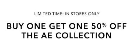 Buy One, Get One 50% Off the AE Collection
