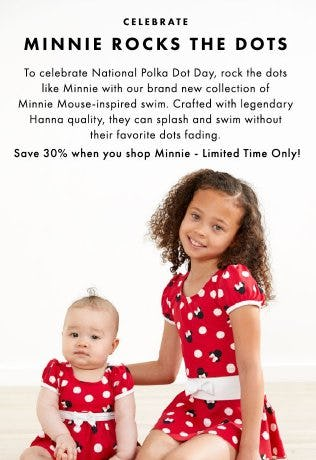 30% Off New Minnie Mouse Swim from Hanna Andersson