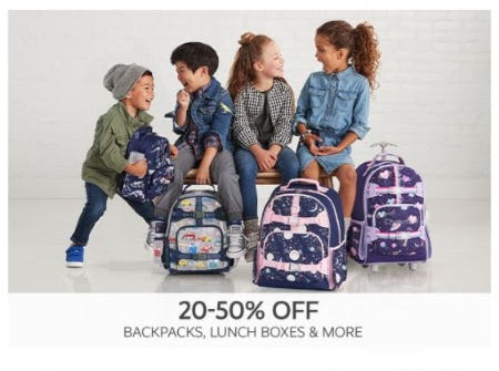 20–50% Off Backpacks, Lunch Boxes & More from Pottery Barn Kids