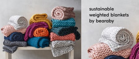 Sustainable Weighted Blankets by Bearaby from West Elm
