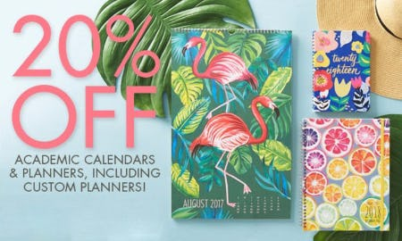 20% Off Academic Calendars & Planners
